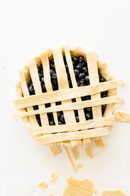 blueberry pie crust