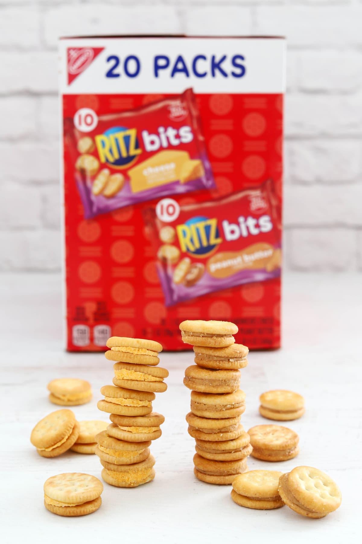Ritz Bits Crackers in stacks