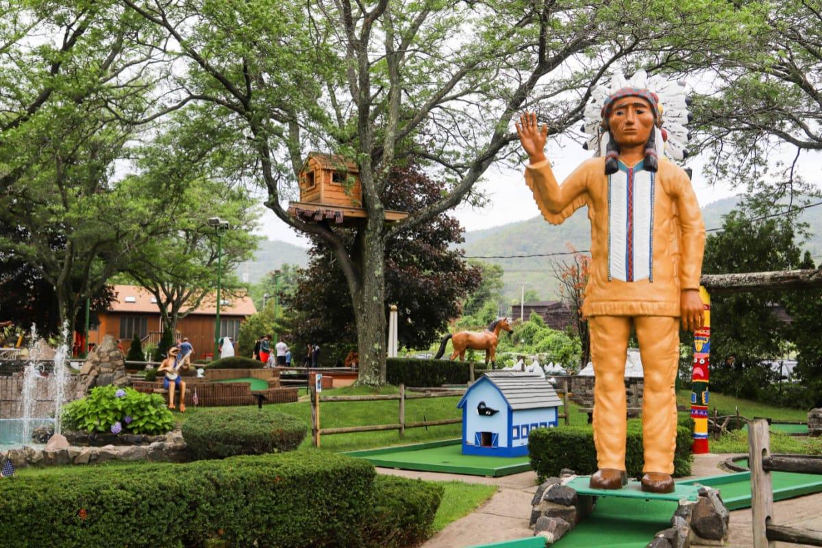 Around The World Mini Golf Course in Lake George Village