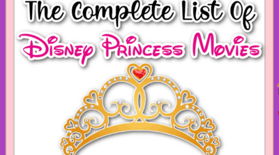 Title page for Disney Princess movies