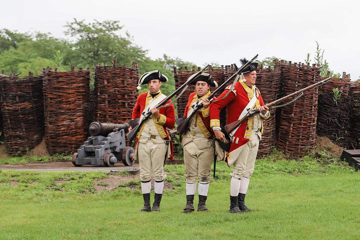 Musket firing demonstration