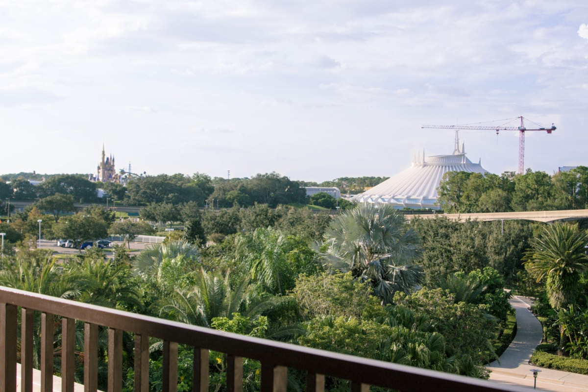 View of the Magic Kingdom from the Contemporary