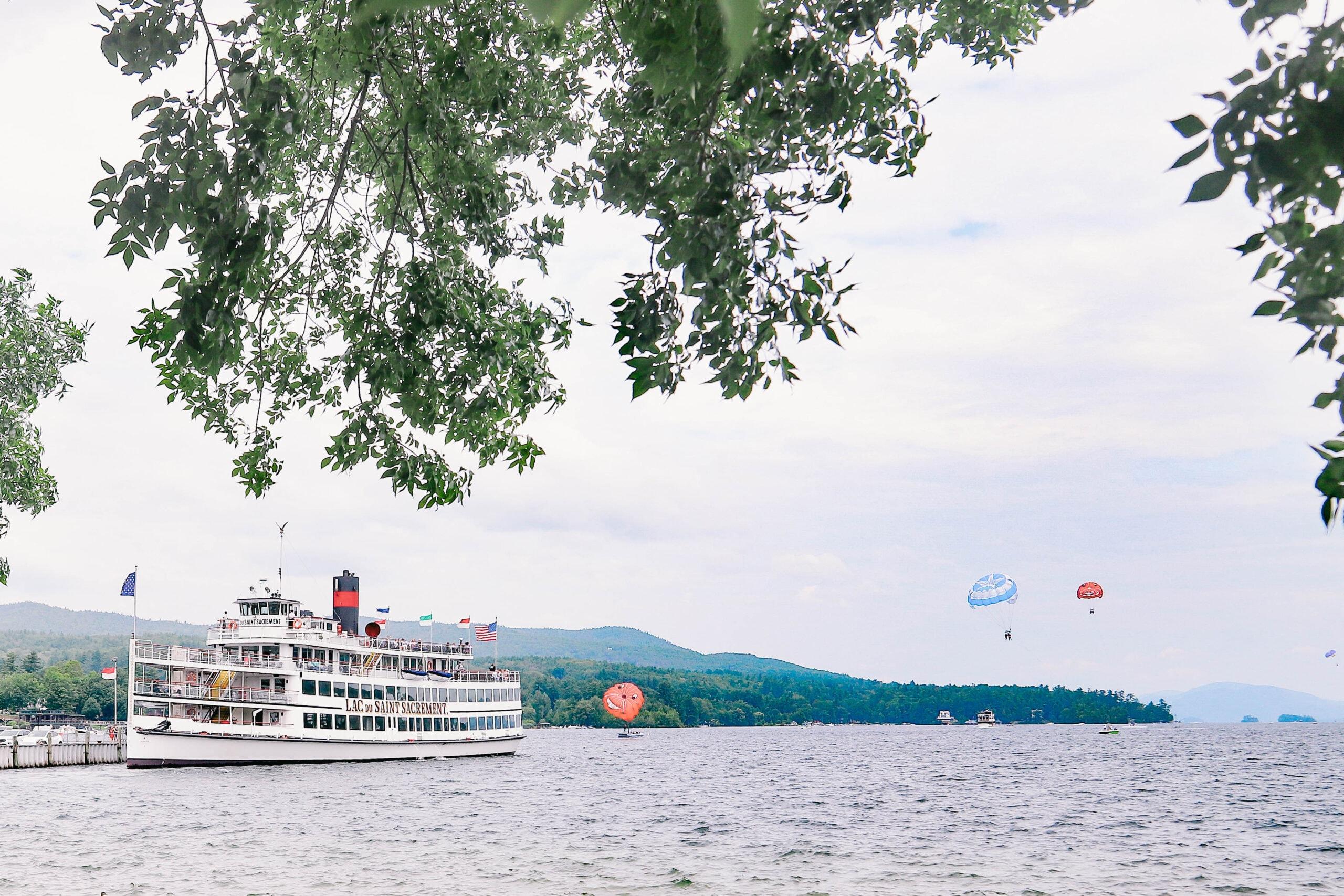 Parasailing on Lake George