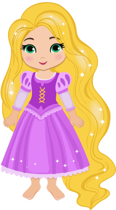 Rapunzel from the Disney princess movie Tangled