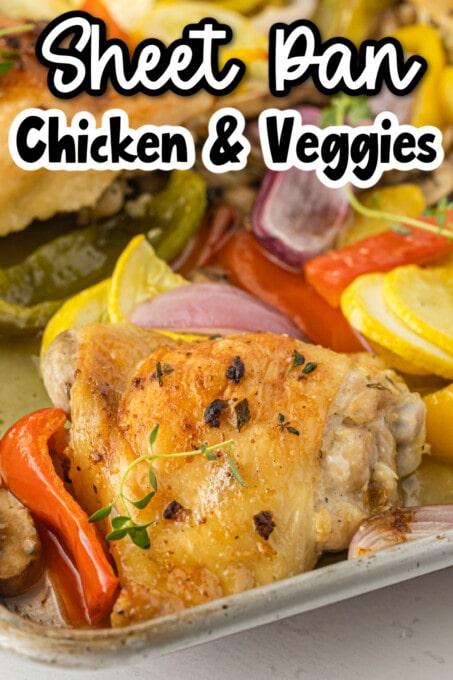 Sheet Pan Chicken and Veggies pin 2