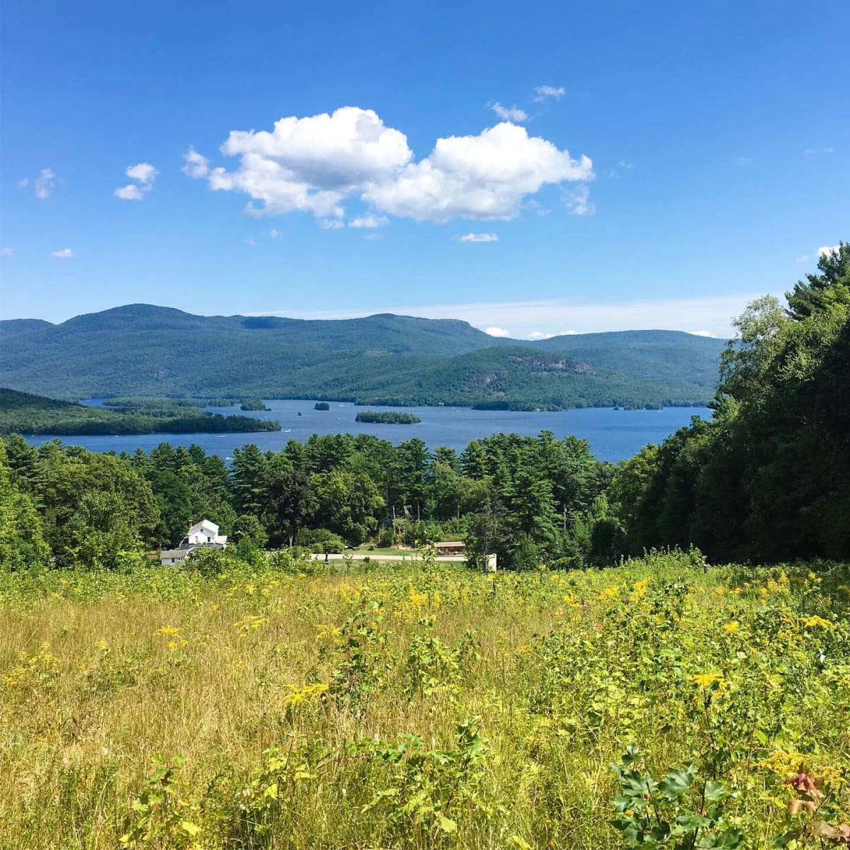View of Lake George from Up Yonda Farm