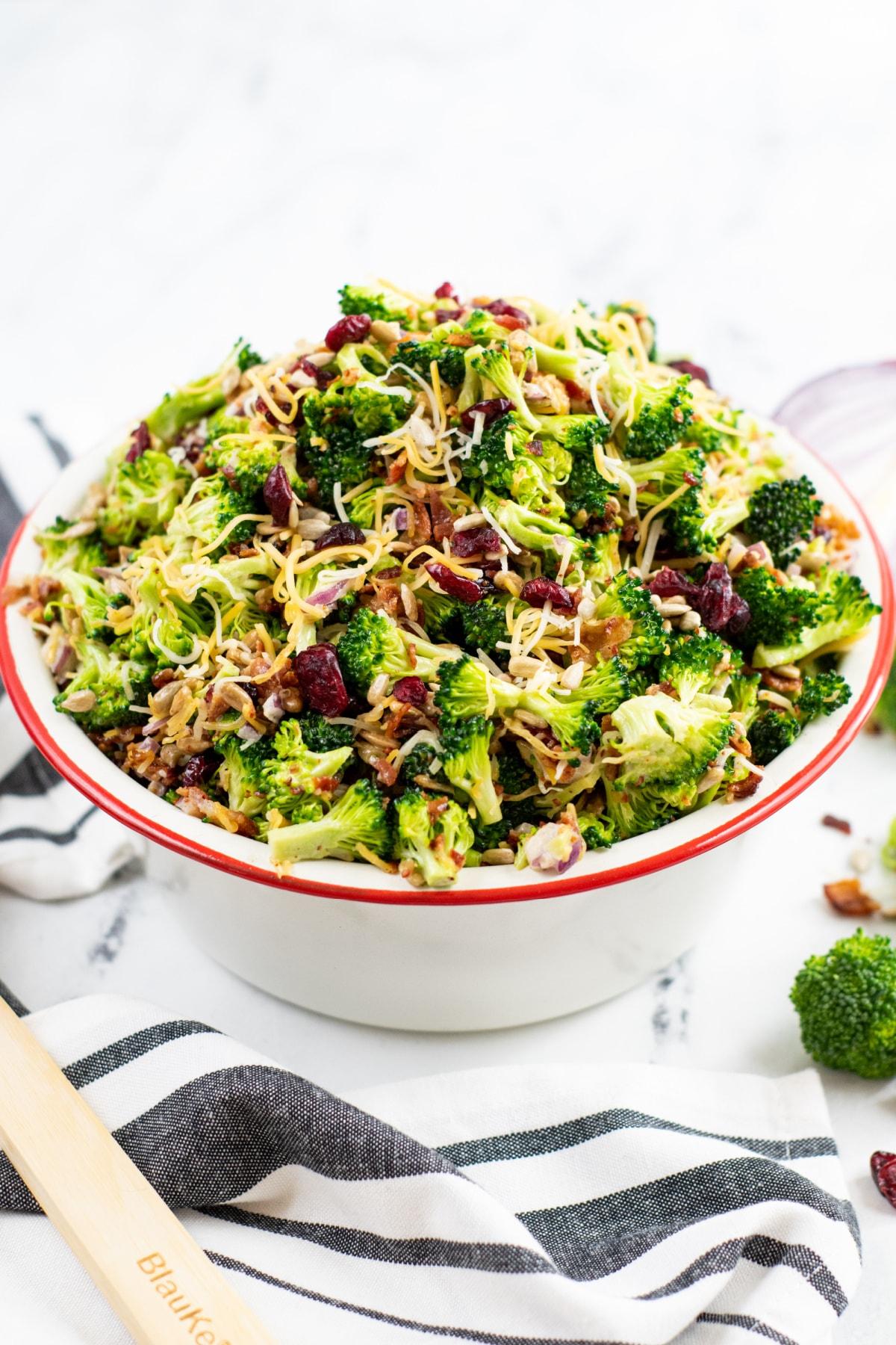 Easy broccoli salad with craisins