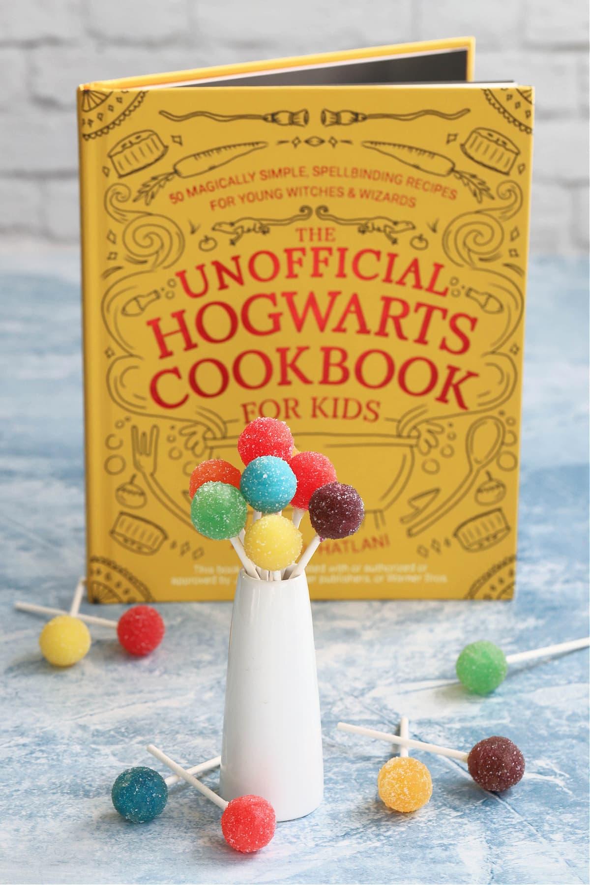 Harry Potter cookbook with acid pops