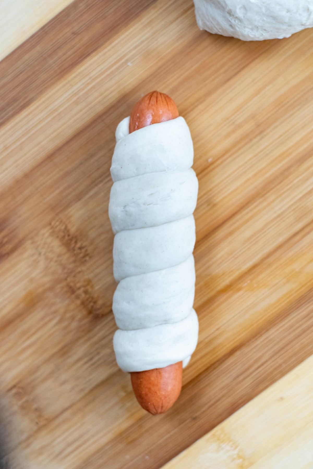 Pretzel wrapped in dough