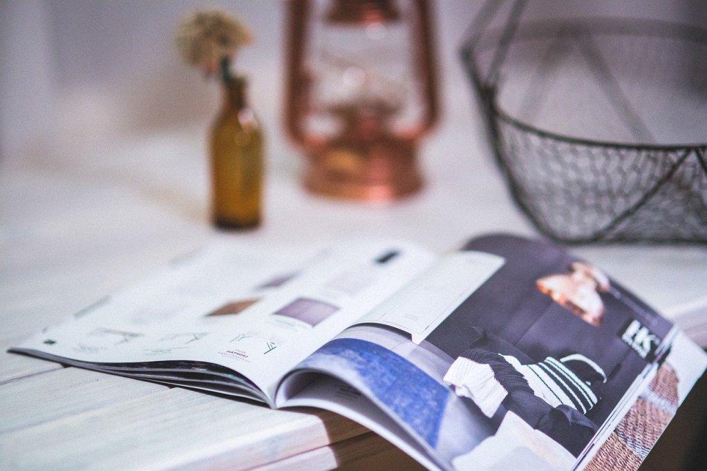 magazine, newspaper, open