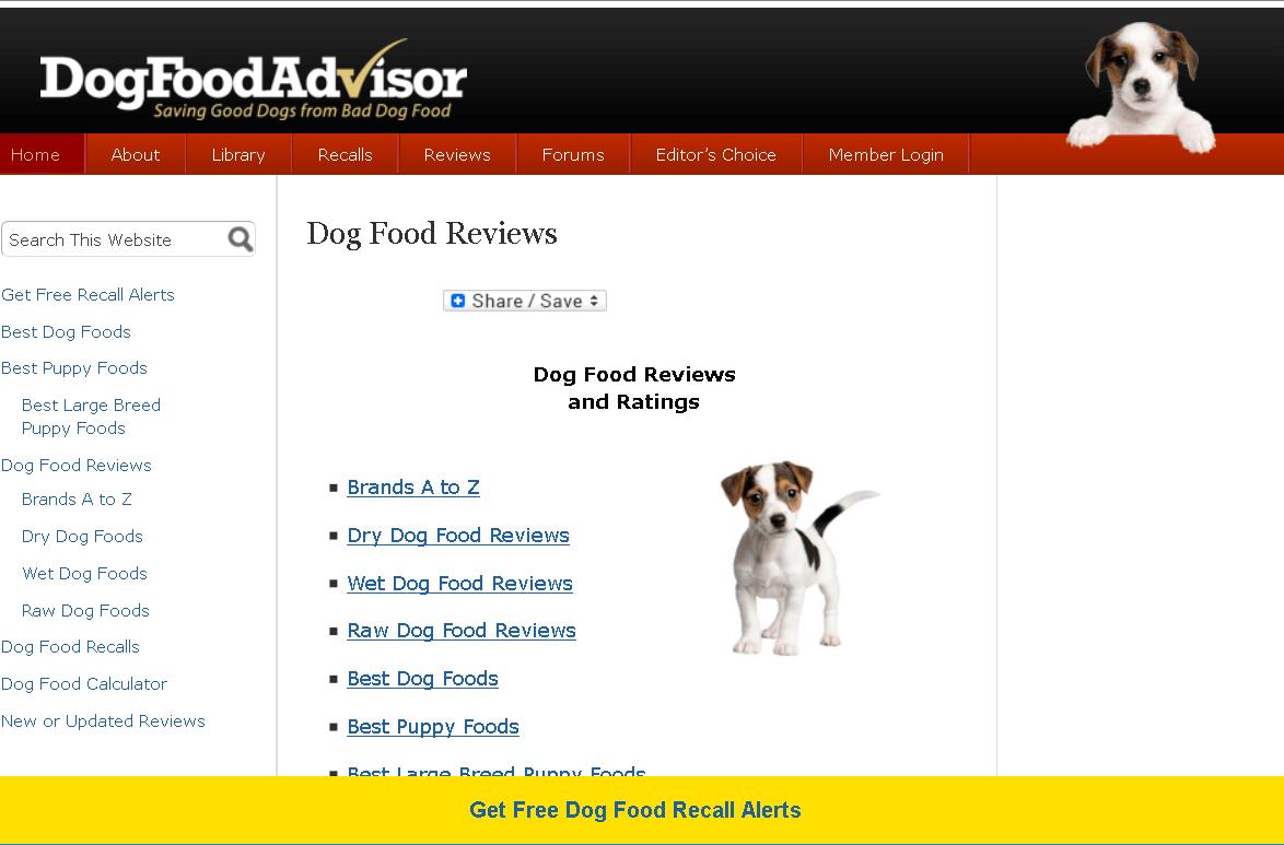 Dog-food-advisor-affiliate-site