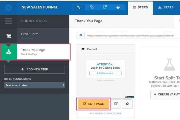 clickfunnels-edit-page