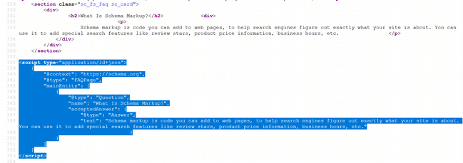 faq page source script
