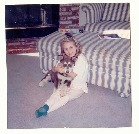 My daughter Maggie and my dog Roxy (from 1994)