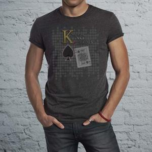 King of Spades poker night men's dark t-shirt.