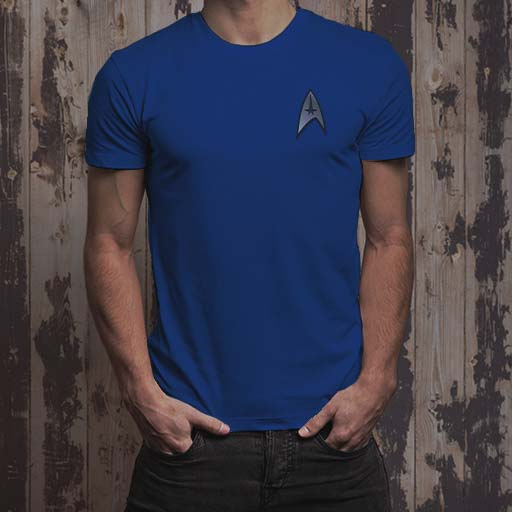Star Trek Command Badge t-shirt. Star Trek fan merchandise on CafePress.