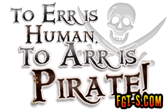 To Err is Human, To Arr is Pirate! design by Funny Graphic T-Shirts.