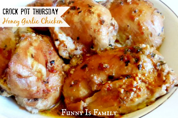 This Crockpot Honey Garlic Chicken is a quick and easy dinner idea your family will love! It's one of our favorite slow cooker chicken recipes!