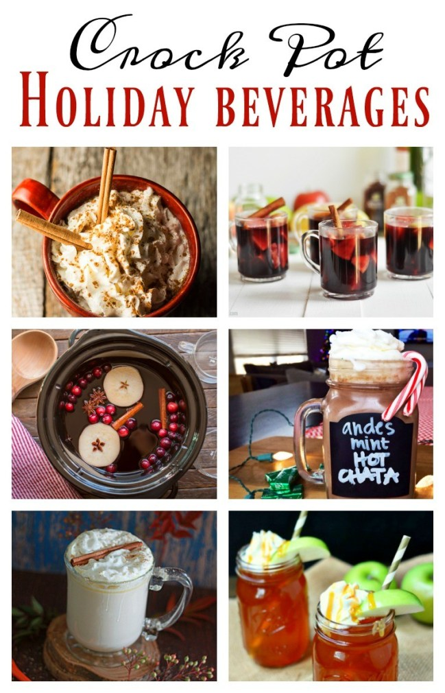 These crockpot holiday drinks are easy and delicious! Thanksgiving, Christmas, and New Year's will be merrier with these delicious and festive crock pot holiday drinks!