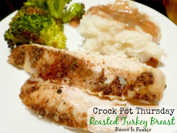 This Crockpot Roasted Turkey Breast is made with the most incredible rub! Don't wait for Thanksgiving to make this quick and easy dinner. Your family will love it!