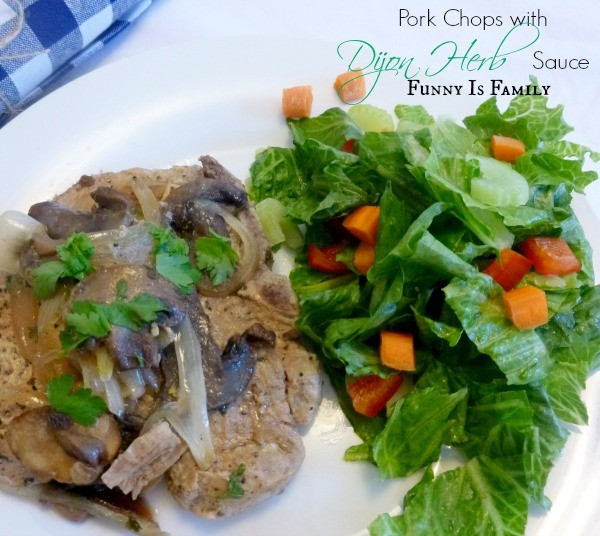 This Pork Chops with Dijon Herb Sauce recipe is a wonderful crockpot dinner good for the whole family. The meat is tender and looks delicious.