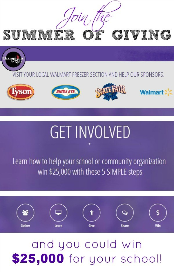 Join Champions for Kids for a #summerofgiving!