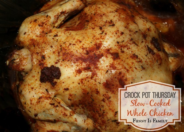 A healthy and delicious slow cooked whole chicken the entire family will love!