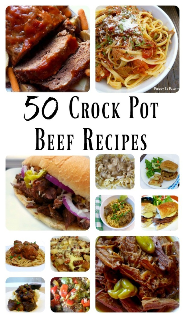 More than 50 Crockpot beef recipes that are easy to prepare and loved by kids and adults alike! These easy beef recipes are tested and approved by multiple families and children!