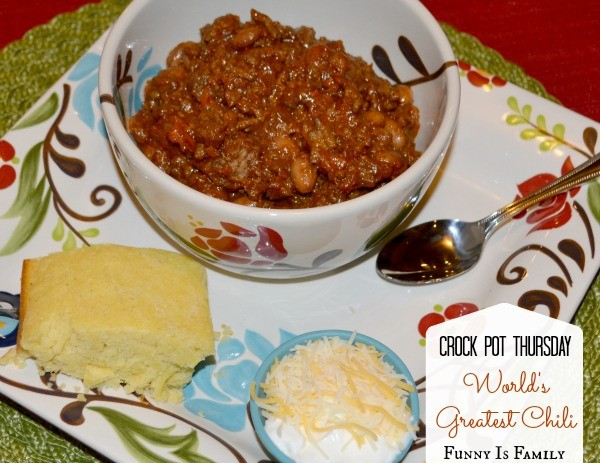 This Crockpot Chili is my very favorite chili of all-time. It has both beef and pork in it, and the mix of spices and peppers adds a wonderfully complex flavor. You have to try it!