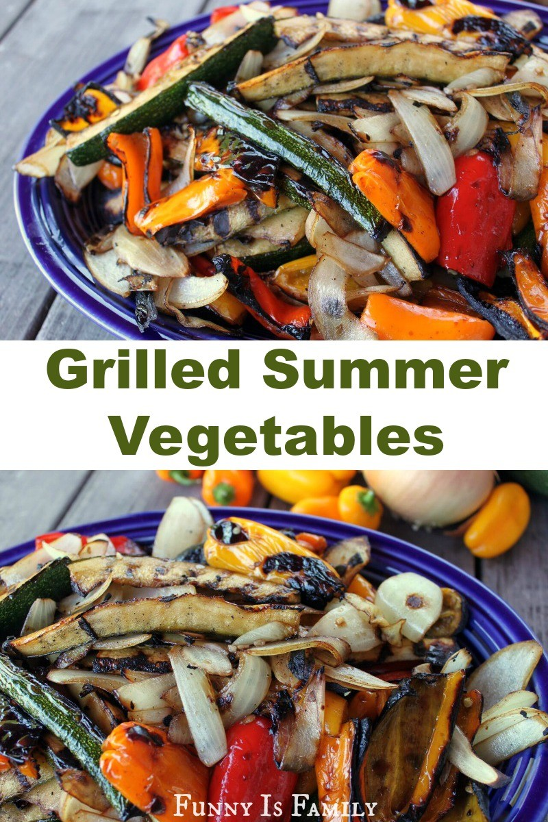 These Grilled Summer Vegetables make a beautifully delicious and healthy side dish for any meal!