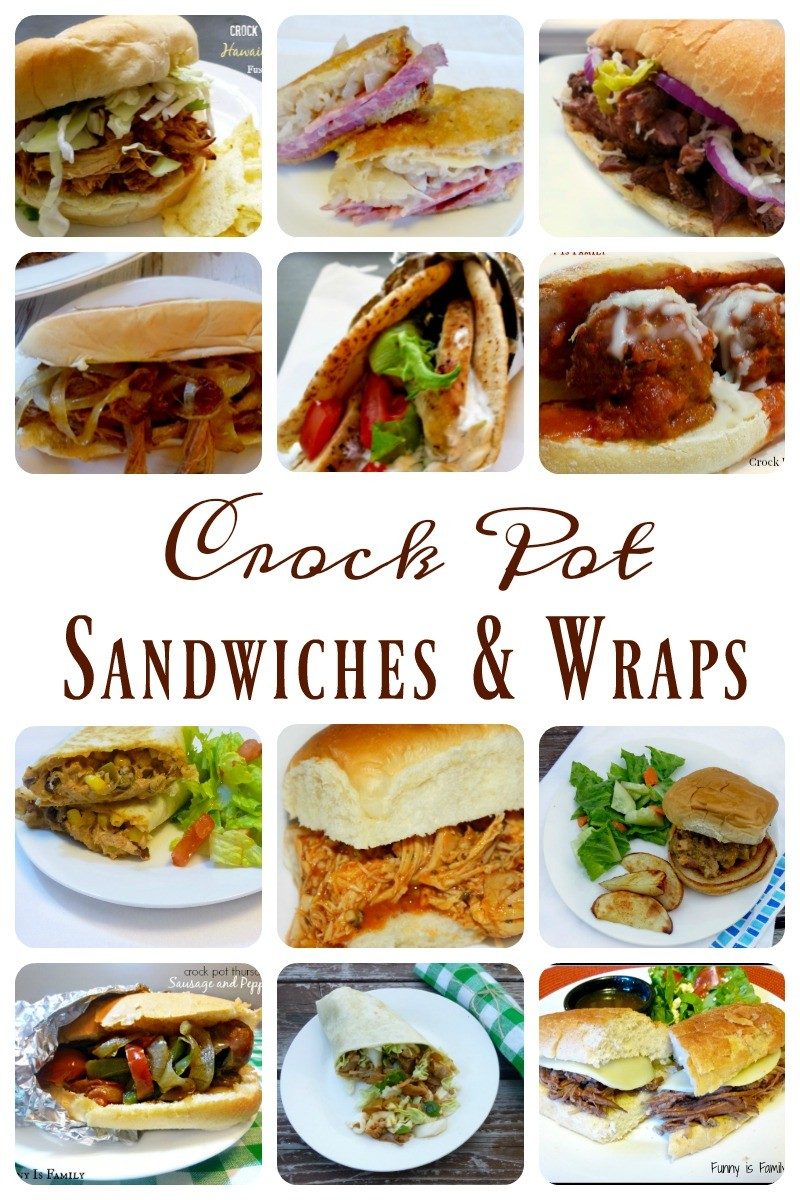 Easy and delicious Crockpot Sandwiches and Wraps the entire family will love!