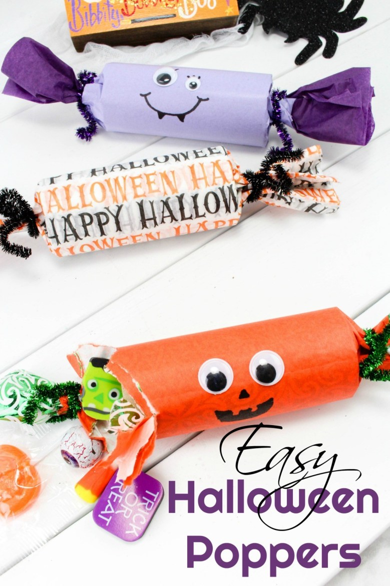 These Easy Halloween Poppers are a fun craft easy enough for the kids to make!