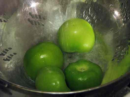 Rinse tomatillos