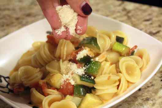Add any toppings to pasta