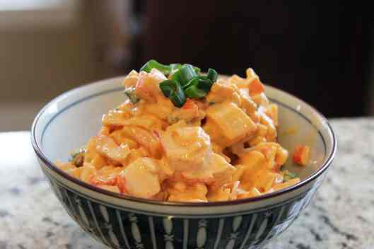 Bowl of crab salad