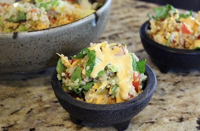 Cute bowls of quinoa
