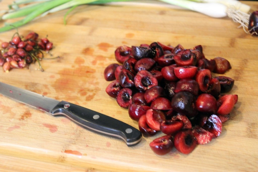 Pitted cherry halves