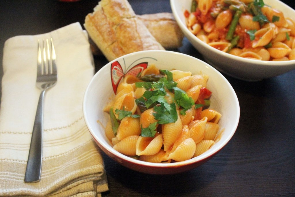 Top pasta with parsley