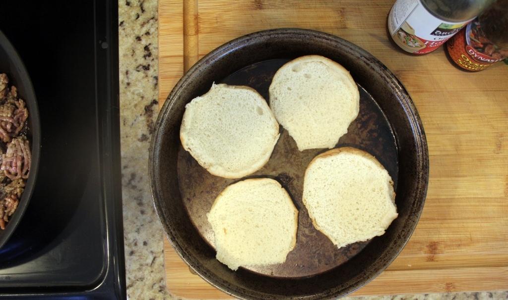 Prep to toast buns