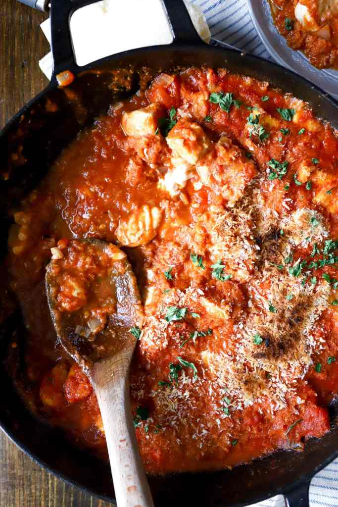Quick Skillet Chicken Parm