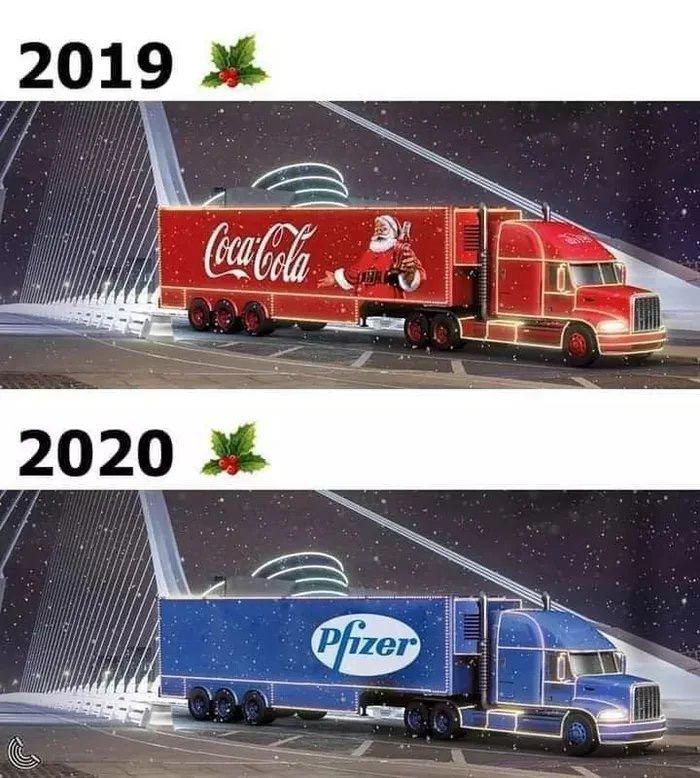 2019 Coca-Cola vs 2020 Pfizer Funny Meme