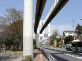 千葉公園駅方向の眺め