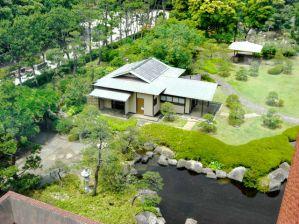 茶室「海星園」と日本庭園