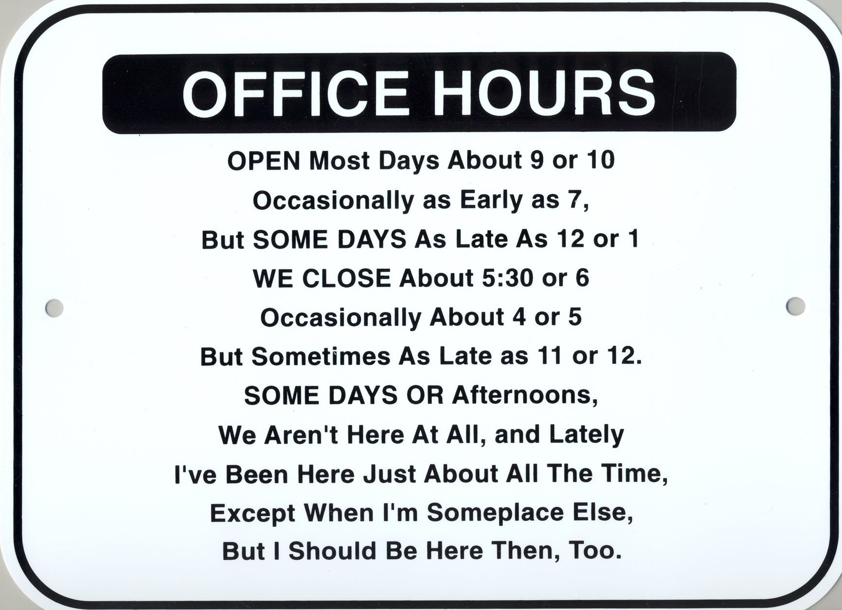 Funny Office Signs Wide Wallpaper
