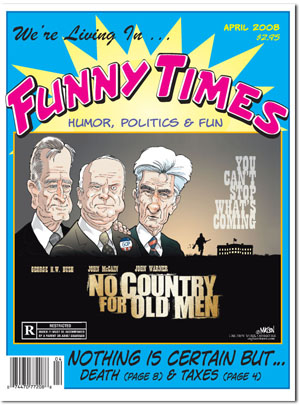 Funny Times April 2008 issue cover