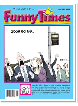 Funny Times July 2009 issue cover