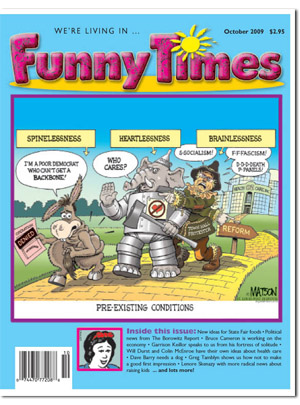 Funny Times October 2009 issue cover