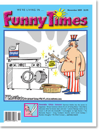 Funny Times November 2009 issue cover
