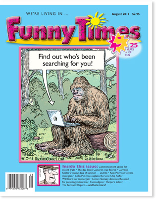 Funny Times August 2011 Issue Cover