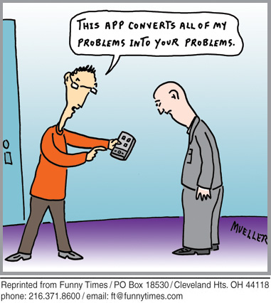 Funny phone cell security  cartoon, November 09, 2011